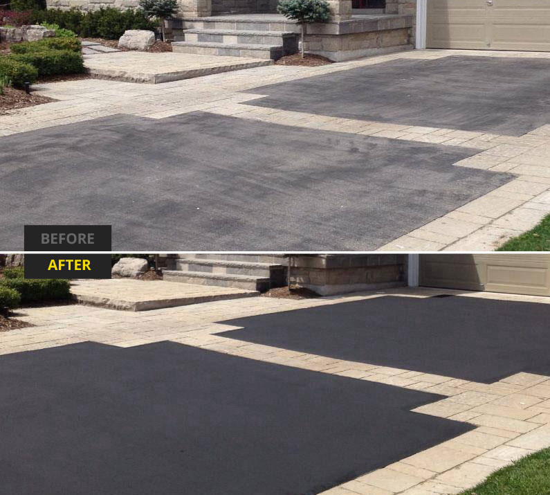 Asphalt driveways gallery the driveway doctor inc for Can i paint asphalt driveway